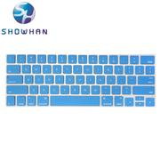【SHOWHAN】Apple MacBook Pro Touch Bar 13吋英文鍵盤膜 深藍