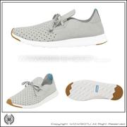 NATIVE  SHOES - APOLLO MOC -PIGEON GREY/SHELL WHITE(1501)