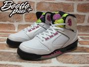 BEETLE PLUS 西門町 現貨 NIKE AIR JORDAN SIXTY PLUS GS 白黑粉合體 火焰 5代 365163-161
