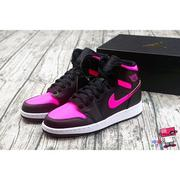 全新現貨 US3.5Y~7Y NIKE AIR JORDAN 1 RETRO HIGH VIVID GS 黑粉 紅 3M