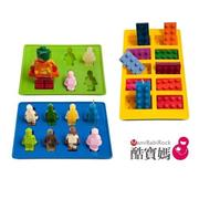 英國 Lucentee Silly Candy Lego Shape Molds n Ice Cube Trays 造型樂高果凍軟糖冰磚模具組