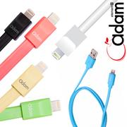 【Apple認證】Adam-1000J Lightning (8pin) iPhone/iPod/iPad扁式傳輸充電線(90cm)