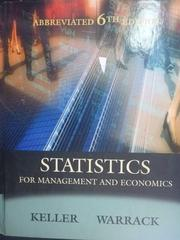 【書寶二手書T5/大學商學_ZAR】Statistics for Management and
