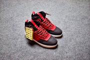Nike Lunar force 1 duckeboot 高筒 黑紅 男款