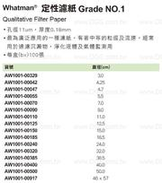《Whatman?》定性濾紙 Grade NO.1 Qualitative Filter Paper