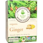 [iHerb] Traditional Medicinals, Herbal Teas, Organic Ginger, Naturally Caffeine Free, 16 Wrapped Tea Bags, .85 oz (24 g) Each