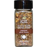 [iHerb] [iHerb] Simply Organic Organic Spice Right Everyday Blends, Pepper and More, 2.2 oz (62 g)