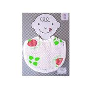 日本MARUJU - FABRIC PLUS日本製二重紗純棉紗圍兜-Thank you berry much-22cm×29cm