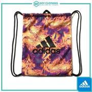 DOT聚點 ADIDAS FUTURE TRIBE GYM BAG 束口袋 萬花筒 花紋 LOGO 黃紫 AY6027