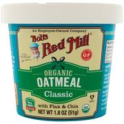 [iHerb] Bob's Red Mill, Organic Oatmeal Cup, Classic with Flax & Chia, 1.8 oz (51 g)