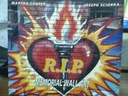 【書寶二手書T9/藝術_QBO】R.I.P. -memorial wall art_Martha Cooper