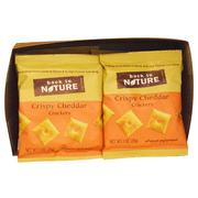 [iHerb] Back to Nature, Crackers, Crispy Cheddar, 8 Pouches, 1 oz (28 g) Each