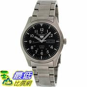 [105美國直購] Seiko Men's 5 男士手錶 Automatic SNZG13K Black Stainless-Steel Automatic Watch