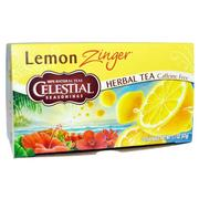 [iHerb] Celestial Seasonings, Herbal Tea, Caffeine Free, Lemon Zinger, 20 Tea Bags, 1.7 oz (47 g)