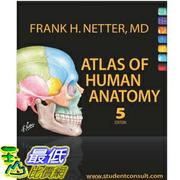 (2013 美國暢銷書榜單)Atlas of Human Anatomy: with Student Consult Access  [Paperback] Frank H. Netter MD 1416059512 $2614