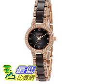 [103美國直購] Armitron Women's 75/3919RGBN Brown Ceramic and Rose Gold-Tone Swarovski Crystal-Accented 女士手錶 $2562