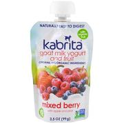 [iHerb] Kabrita, Goat Milk Yogurt and Fruit, Mixed Berry with Apple and Pear, 3.5 oz (99 g)