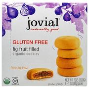 [iHerb] Jovial, Organic Cookies, Fig Fruit Filled, 6 Packs, 1.2 oz (33 g) Each
