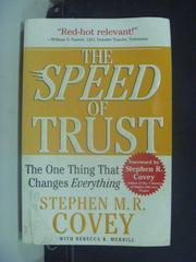 【書寶二手書T3/財經企管_GJN】The Speed of Trust_M.R. Covey, Stephen