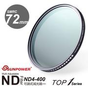SUNPOWER TOP1 SMRC ND4-ND400 72mm 超薄可調式減光鏡