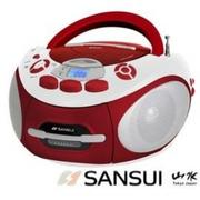 【山水SANSUI】(CD/MP3/USB/SD/卡帶)手提音響,SC-85C