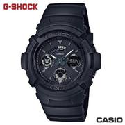 CASIO AW-591BB-1A《G-SHOCK系列》46mm/KAWASAKI GP雙顯錶/消光黑