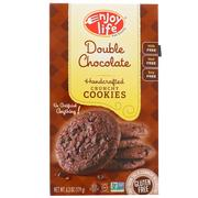 [iHerb] Enjoy Life Foods, Handcrafted Crunchy Cookies, Double Chocolate, 6.3 oz (179 g)