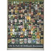 【P2 拼圖】啤酒瓶夜光拼圖 Life is Full of Difficult Decisions 1000片 1000-215