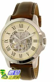 [105美國直購] Fossil Men's 男士手錶 Grant ME3099 Silver Leather Automatic Watch