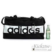 愛迪達 adidas Essentials M 黑白 LOGO 中型 手提袋 訓練包 健身包 旅行袋 S99959