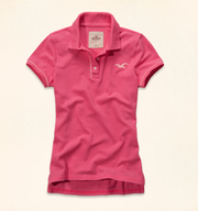 【LA STORES】HOLLISTER POLO衫(桃粉色)