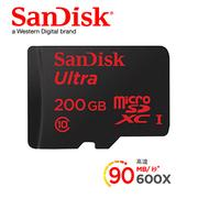 SanDisk Ultra Micro SD 200G 90Mb/s 記憶卡