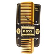 Bass Brushes, Large Wood Comb, Wide Tooth/ Fine Combination