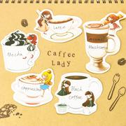 【SM工房】Caffee Lady插畫貼紙組(共5款)