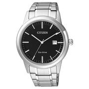 CITIZEN Eco-Drive 經典都會腕錶-黑/40mm AW1231-58E