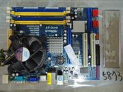 ¥中古良品¥NO.5873  ASRock  G41C-GS+CPU:Q8200 4核2.33/4M/1333