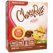 [iHerb] HealthSmart Foods, Inc., ChocoRite Protein, Peanut Butter, Sugar Free, 5 Bars, 32 g Each