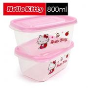 樂扣樂扣 Hello Kitty EZ Lock保鮮盒 800ml (二入組) LKT805