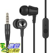 [106美國直購] 耳機 AmazingEC In Ear Earphone Earbuds with Microphone Mini Pouch and Ultra-soft S/M/L Replacement