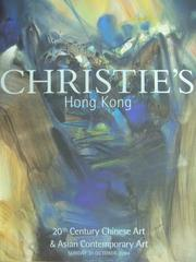 【書寶二手書T8/收藏_XDP】Christies_2004/10/31_20th Century Chinese..