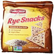 Finn Crisp, Plus, Rye Snacks, Seeds & Sea Salt, 4.6 oz (130 g)