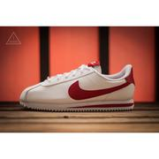 ISNEAKERS Nike Cortez Basic SL (GS) 皮革 鐵牌 阿甘 白色紅勾 904764-101