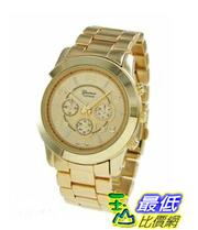 [103 美國直購] Geneva Platinum Large Face Faux Chronograph Boyfriend Watch-Gold 男款手表 $729