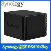 Synology 群暉 DiskStation DS416 4Bay NAS 網路儲存伺服器