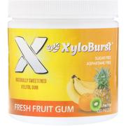 [iHerb] Xyloburst, Xylitol Chewing Gum, Fresh Fruit , 5.29 oz (150 g), 100 Pieces