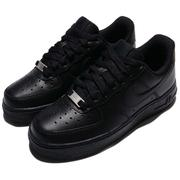 NIKE 休閒鞋 Wmns Air Force 1 07 AF1 運動氣墊 全黑 女鞋  [315115-038]