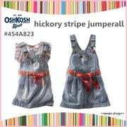 Enen Shop @OshKosh B'gosh 單寧條紋款吊帶裙 ∥ 12M/18M