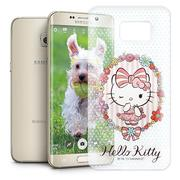Hello Kitty 三星 Samsung Galaxy S6 Edge+ 透明軟式手機殼(花邊Kitty)