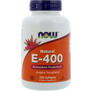[iHerb] Now Foods, Natural E-400, 250 Softgels