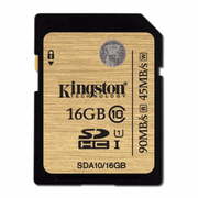 Kingston SDHC R:90MB/s (SDA10)U1 記憶卡 16GB 香港行貨